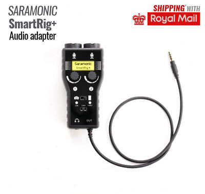 Saramonic SmartRig+ Audio Adapter For iPhone iPad iPod Android smartphone tablet