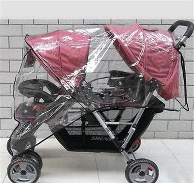 TWIN BABY Stroller Cart Universal Pushchair DOUBLE Rain Cover Dust Wind ShieldEP