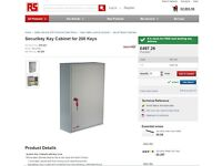 Security Key Cabinet for 200 Keys Brand New Boxed
