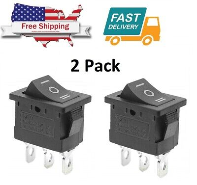 2 X Onoffon Spdt 3 Position Micro Mini Toggle Switch 10 Amp 125v 3 Pin