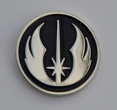 Star Wars Black and Silver Jedi Order Emblem Quality Enamel Pin Badge