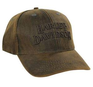 Harley-Davidson-Regal-Brown-Stone-Washed-Baseball-Cap-BC111439