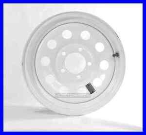 Trailer rim wheel 14 quot x 6 quot 14x6 5 lug hole bolt wheel white modular