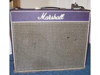 "1973 Marshall 2040 Artiste, 2x12"" 50 watt combo, purple tolex, greenback speakers."