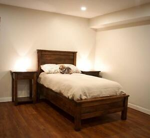 Locally Crafted: Solid Wood Storage Bed Frame, cusomizable to your needs! By LIKEN Woodworks