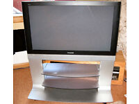 """Panasonic TH-42PE50B 42"""" Plasma Television with remote, cable, stand and full instructions on CD."""
