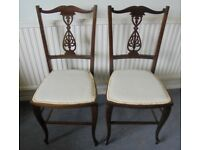 Pair of Decorative Vintage Bedroom Chairs, £30 for the pair
