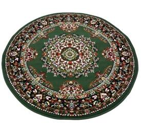 Round rug circular carpet traditional pattern