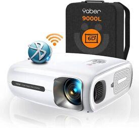 NEW YABER Pro V7 9000L 5G WiFi Bluetooth Projector, Auto 6D Keystone Correction &4P/4D