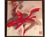 """Lost in Motion Art Canvas by Kitty Meijering 27"""" x 27"""""""