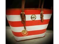 Michael Kors Striped Beach bag