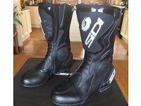 SIDI STIVALI BLACK RAIN EVO, LEATHER MOTORCYCLE BOOTS - LADIES SIZE 39