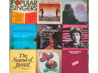 #12 - Pack of 9 vinyl records. Eric Clapton, Chris de Burgh, Tom Robinson Band, Love Story...
