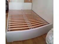 11 month old king size ikea bed and foam mattress