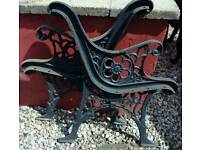 GENUINE ANTIQUE CAST IRON BENCH ENDS
