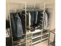Ikea modulable Open wardrobe