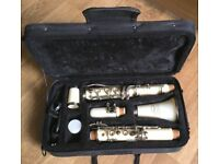 66cm Jollysun JS-1011 B Flat PEARLY WHITE clarinet Professional Nickel-plated with case