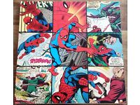 Spider-Man comic strip canvas