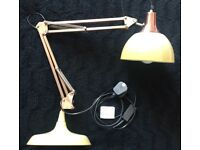Large anglepoise type table lamp in excellent condition for sale