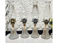 4 beautiful oil lamps - perfect for weddings! Sold as group or individually