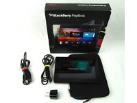 """BlackBerry PlayBook 16gb 7"""" Tablet w// Charger Box Case Tested & Working"""