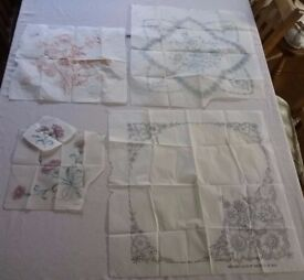 Vintage 1930's/1940's Tablecloth Embroidery Transfers