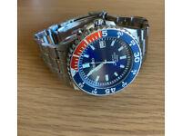 SEIKO Kinetic Pepsi Bezel Divers Watch - 5M62-0A10