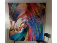 Multicoloured Wall Tapestry, Wall Drape, Wall Hanging