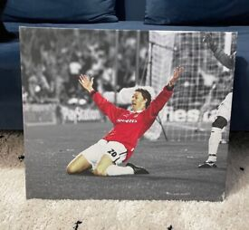2x Manchester United Football Canvas'