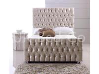 Velvet - leather - wooden beds