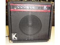 Kustom KLA20 Guitar Practice Amp 20 Watts Cheap Overdrive Phone Speaker Out 3 Band EQ Manual