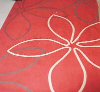 Modern bright area rug, Red, $60!