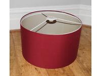 Ikea red Nymó drum oversized pendant lamp shade 70cm x 40cm