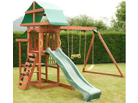 10ft Children Garden Plastic SLIDE - For Kids Climbing Frame Playhouse - Playground toy - Tree House