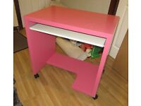 Pink Computer table. Free! Pickup only.