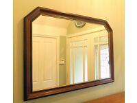 Large Framed Mirror Angled Detail