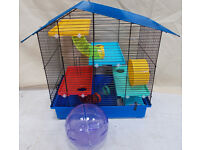 Hamster Rodent Cage With Ball Multi colour