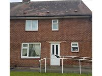 Large 3 bed,adapted council house, separate dining/living room.