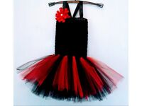 Black and red tutu dress (hand made ) Costume, party, princess or photo shoot.