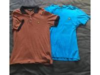 2 Lyle and Scott polo/t-shirts - size medium. Great condition!