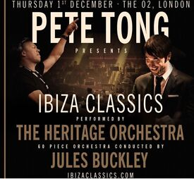 Pete Tong Classics x2 tickets - seating, ground level