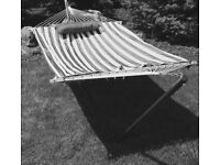 Free standing hammock on a frame