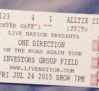 200 for 3 One Direction Tickets