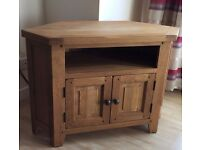 Solid Oak corner TV unit, 45cm x 70cm x 100cm