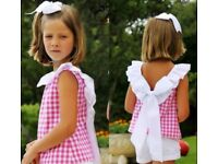 Pretty 2pc Little Girls Backless summer outfit.