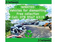 ♻️ WANTED ♻️ Toyota Peugeot Citroen Mercedes BMW Mazda Lexus Renault Car Van Jeep ♻️ BREAKING PARTS