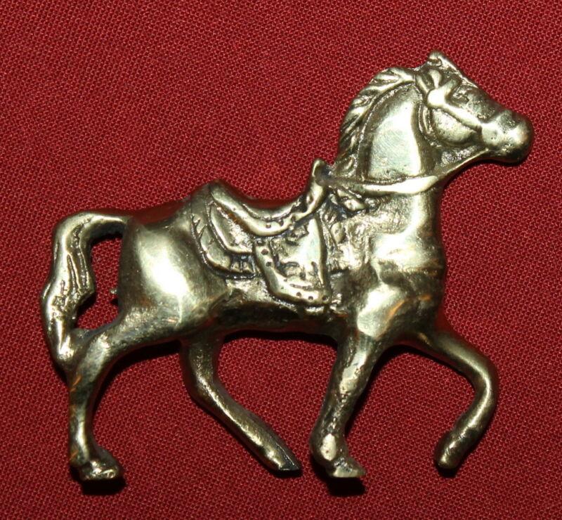 Vintage+European+Handcrafted+Brass+Small+Horse+Figurine