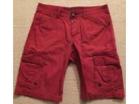 Once worn Men's Timezone shorts. Red. Waist 34