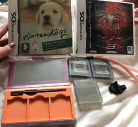 4 Nintendo DS games and accessories
