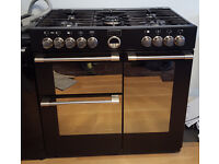 Stoves Sterling 900 DFT Black - Dual fuel range cooker/oven 900mm